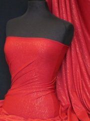 Viscose Lycra Subtle Shimmer- Red Q874 RD