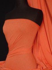 100% Viscose Stretch Fabric Material- Marl Orange 100VSC MLOR