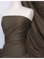 100% Cotton Interlock Knit Soft Jersey T-Shirt Fabric- Dark Khaki Q60 DKKH