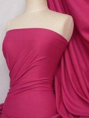 100% Cotton Interlock Knit Soft Jersey T-Shirt Fabric- Fuchsia Q60 FUCH