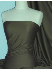 Soft Fine Rib 100% Cotton Knit Material - Dark Khaki Q61 DKH