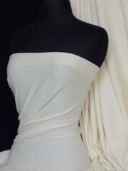 Soft Fine Rib 100% Cotton Knit Material - Cream Q61 CRM