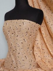 Cotton Poplin Ditsy Floral Non-Stretch Material- Clair Peach Q625 PCH