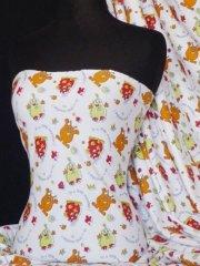 """100% Cotton Interlock Knit Soft Jersey T-Shirt Fabric- """"I'm A Little Monster"""" Q747 MLT"""