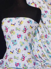 100% Cotton Interlock Knit Soft Jersey T-Shirt Fabric- One To Ten Q748 MLT