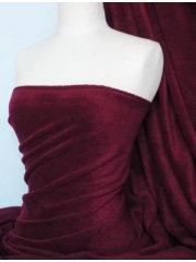 Polar Fleece Anti Pill Washable Soft Fabric- Wine PF WN