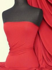 Heavy Viscose Cotton Stretch Lycra Fabric- Red Q896 RD