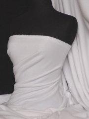 Polar Fleece Anti Pill Washable Soft Fabric- White PF WHT