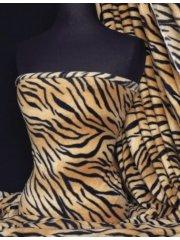 Polar Fleece Anti Pill Washable Soft Fabric- Tiger Stripe Q39 TG