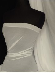 Crinkle Chiffon Soft Touch Sheer Fabric Material- Ivory Q795 IV