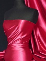 Super Soft Satin Stretch Fabric- Fuchsia Q710 FUCH