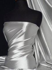 Super Soft Satin Fabric- Silver Grey Q710 SLVGR