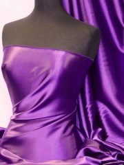 Satin Medium Weight Fabric- Purple Q243 PPL