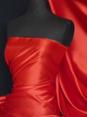 Dutch Satin Non-Stretch Fabric Material- Red Q825 RD
