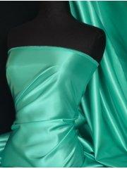 Acetate Satin Fabric Material- Aqua Blue Q824 AQBL