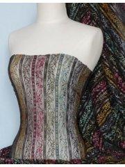 Lace Space Dye Stretch Fabric- Black Q167 BK