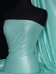Micro Wet Look Stretch Lycra Fabric- Soft Mint Q925 SMNT