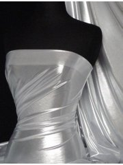 Metallic Foil Lamé Material- Silver Ice On White Q714 WHTSLV