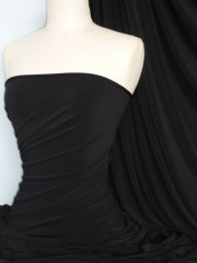 Soft Touch 4 Way Stretch Lycra Fabric- Black Q36 BK