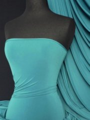 Soft Touch 4 Way Stretch Lycra Fabric- Teal Q36 TL