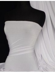 Slinky Stretch Jersey Fabric- White Q323 WHT