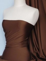 Shiny Lycra 4 Way Stretch Material- Coffee Brown Q54 BR