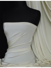 Shiny Lycra 4 Way Stretch Material- Ivory Q54 IV