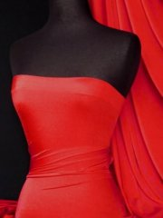 Shiny Lycra 4 Way Stretch Material- Red Q54 RD