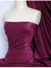 Shiny Lycra 4 Way Stretch Material- Wine Q54 WN