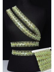 Lime Green Sequin Organza Trimming