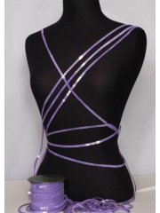 Lilac String Sequin Trim