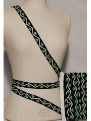 Blue Zig-Zag Sequin Design Trimming