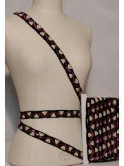 Pink Zig-Zag Sequin Design Trimming