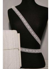 White Oval Cotton Crochet Trim