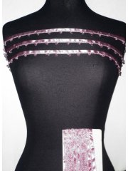 Dusky Pink Diamond Beaded Trim