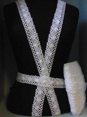 White Cotton Crochet Trim