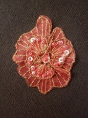 Sequin Flower Embellishment- Dark Pink EM141 DKPN