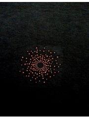 Red Starburst Iron-On Rhinestud