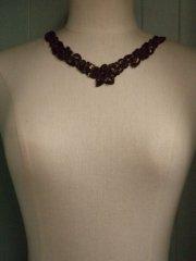 Sequin Beaded Neck Piece- Chocolate Brown EM184 CHBR