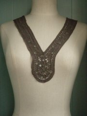 Khaki Green Sequin Neck Piece