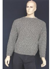 MEN'S 100% Pure Wool Rope Jumper (CV7)