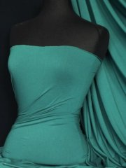 Heavy Viscose Cotton Stretch Lycra Fabric- Dark Sea Green Q896 DRSG
