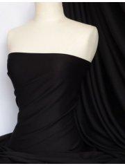 Ponte Double Knit Stretch Jersey Fabric- Black Q37 BLK