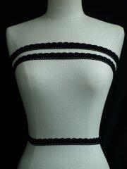 Black Cotton Flower Crochet Trim