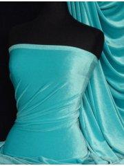 Velvet /Velour 4 Way Stretch Spandex Lycra- Flo Turquoise Q559 TQS