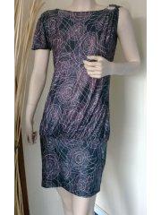Circle Graphic Print Dress