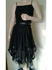 Black Floaty Prom Dress