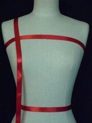 Red Satin Ribbon Trim