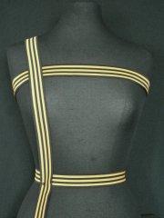 Black/ Mustard Stripe Trim
