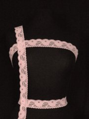Light Pink Floral Lace Trim